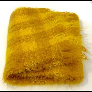 Vintage Golden 100% Mohair Scarf From Scotland